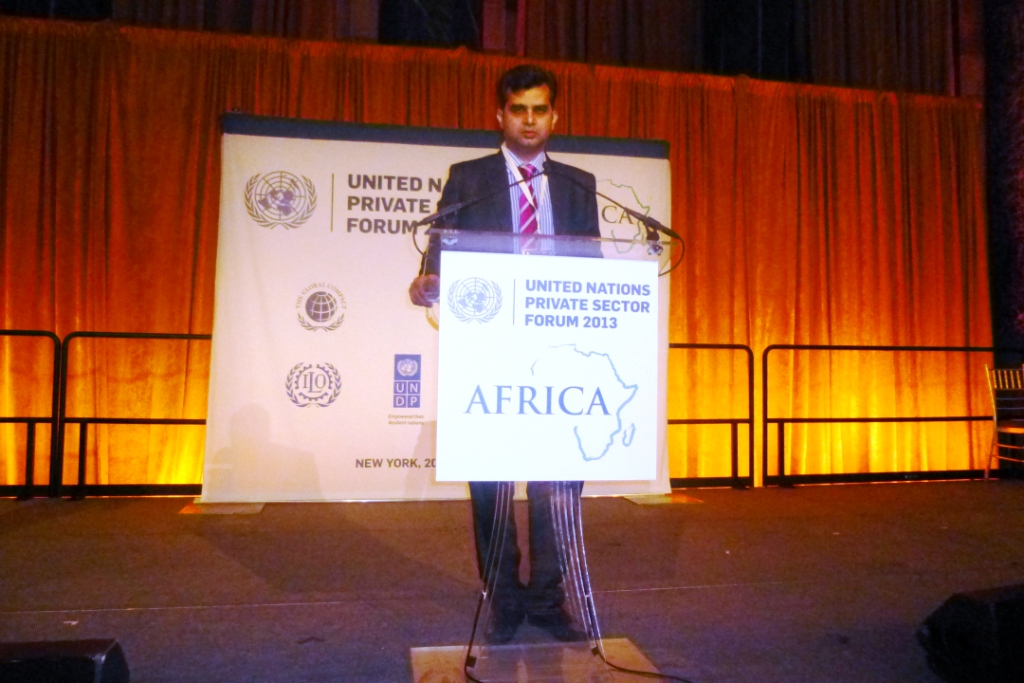 tameem   at united nations in new york - 2