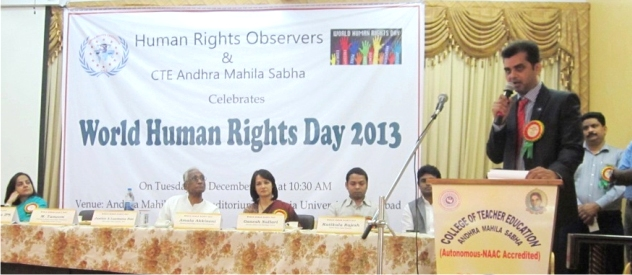 tameem, human rights observers, speech, world human rights day