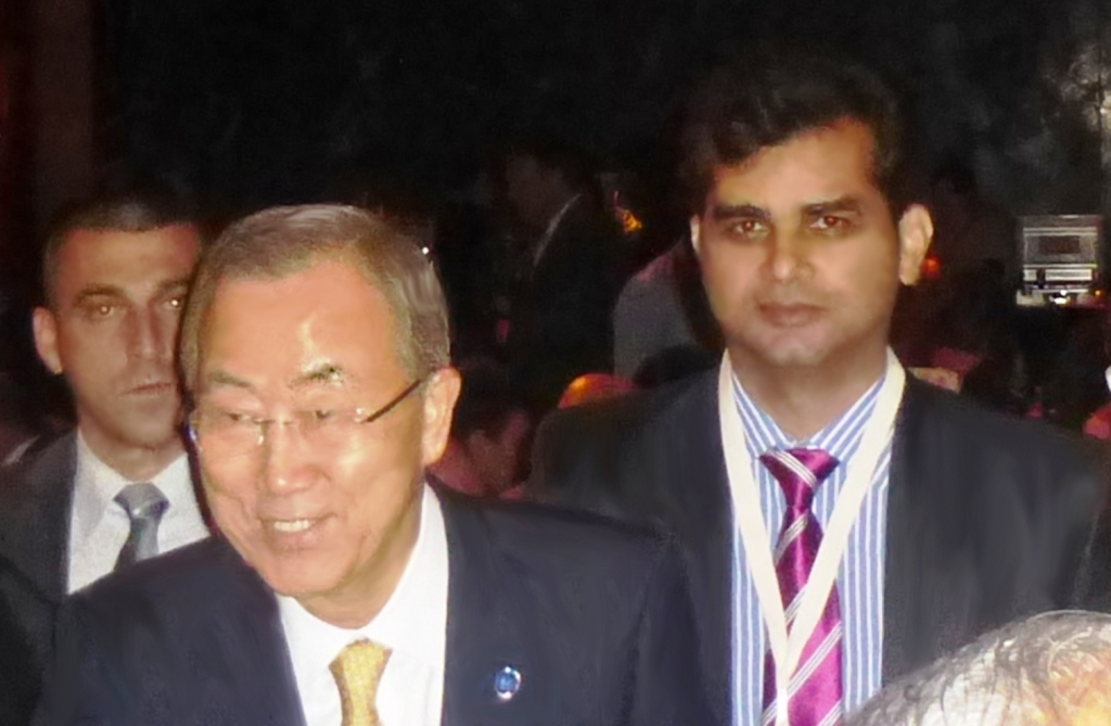 tameem  with united nations secretary general ban ki-moon in new york