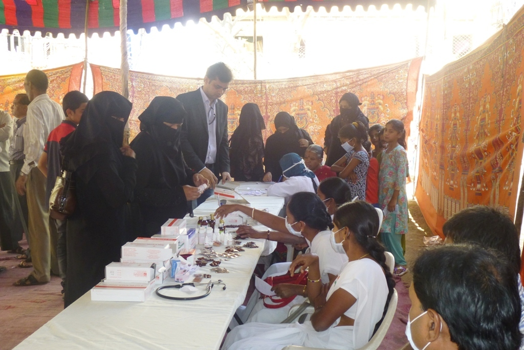 M Tameem Chairman hro  organised swine flu awareness medical camp 2
