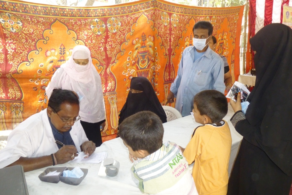 M Tameem Chairman hro  organised swine flu awareness medical camp 6