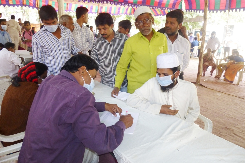 M Tameem Chairman hro  organised swine flu awareness medical camp 7